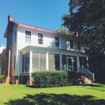 The front view of the farmhouse.